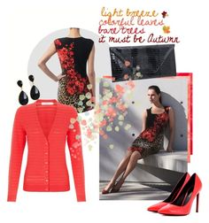 """""""Coral in Autumn"""" by shoppe23online ❤ liked on Polyvore featuring Joseph Ribkoff, John Lewis, Yves Saint Laurent, Shoppe23 and premiereavenueboutique"""