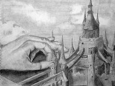 Handscape Drawing /High School Art Ideas