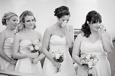 Photography should not only capture the posed moments, but also the raw moments at your wedding; tears included.   Photo by Leslie Gilbert Photography Pin from DreamWeddingsPA.com