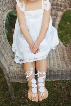 'Remmi' Children's barefoot sandals - Flower girl | Forever Soles | Use code PIN1116 to receive 5% off your order xx