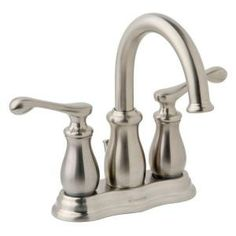 Vienna 4 in. Centerset 2-Handle High Arc Bathroom Faucet in Satin Nickel-SLC-9112-STN-RP at The Home Depot
