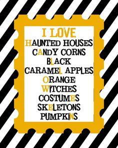 I LOVE Halloween Print - free download on { lilluna.com }