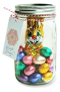 Great easter gifts for grandchildren can put colored krispie treats ball mason jar easter gift negle Images