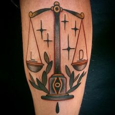 60 Libra Tattoos For Men - Balanced Scale Ink Design Ideas