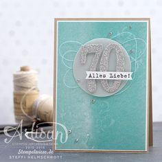 Geburtstagskarte - Global Design Project - Stampin' Up! -  Birthday Card - Silber ❤︎ Stempelwiese