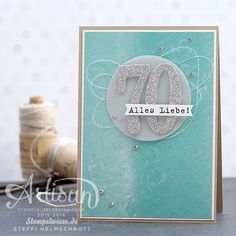 Geburtstagskarte - Global Design Project - Stampin' Up! - Birthday Card - Silber ❤︎ Stempelwiese