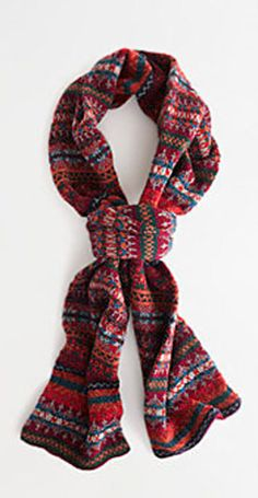 Barbour®   melrose fair isle scarf