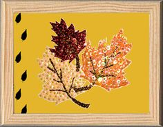 Autum leaf made with Color Dome pins and sequins. Hojas hechas con alfileres Color Dome y lentejuelas Do It yourself. pinsart.com Art En 2d, Autum Leaves, Pin Art, Sequins, Images, Map, Flowers, Plants, Leaves