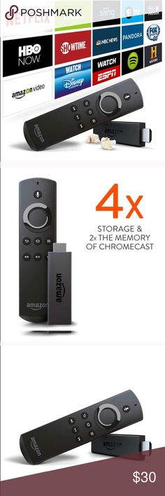 Amazon Firestick With Voice Remote  Used a couple times, works perfectly. Bought a smart tv so no longer need it. THIS FIRESTICK WORKS AS A REGULAR FIRESTICK, IT IS NOT HACKED OR AND DOES NOT HAVE KODI  Other