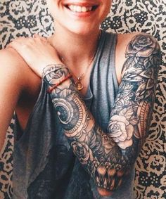 Breathtaking 57 Attractive Sleeve Tattoos for Women https://outfitmad.com/2018/05/06/57-attractive-sleeve-tattoos-for-women/