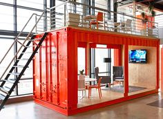 9 amazing ways to use a shipping container - workshop office?