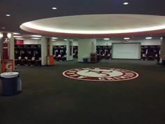 Alabama Football Locker Room!