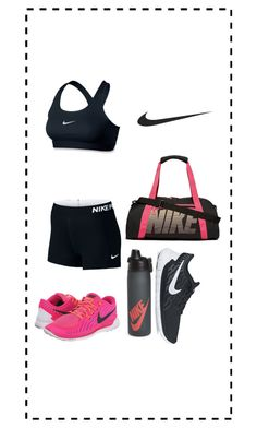 """""""nike"""" by kitty-dragon-w on Polyvore featuring NIKE"""