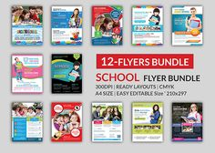 School Education Flyer Bundle by AfzaalGraphics on Creative Market