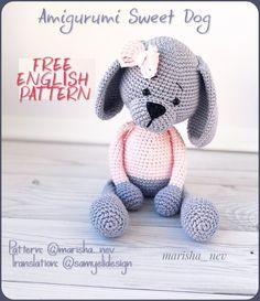 Free Amigurumi Patterns – Sayfa 20 – All free amigurumi crochet patterns and tutorials. Crochet Bow Pattern, Amigurumi Doll Pattern, Crochet Amigurumi, Dog Pattern, Crochet Toys, Free Pattern, Crochet Patterns, Cat Amigurumi, Crochet Olaf