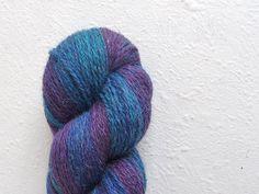 100  gradient WOOL yarn blue purple   one skein от YarnStoriesWool, €5.00