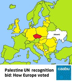 Online Maps: UN Recognition of Palestine on Maps