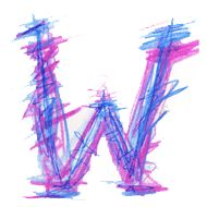 love this scribbly letter! Letter W, Initials, Alphabet, Alpha Bet