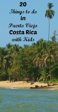 Puerto Viejo, Costa Rica is a low-key stretch of Caribbean coastline at the far end of a long road that runs to the very southernmost corner of Costa Rica. Long known as a hot surfing destination, this charmingly sleepy beach town is an ideal first stop on a Costa Rica itinerary. Here your family can  relax for a few days, play in the amazingly warm water and learn first hand about the Central American jungle.  Here are 21 things to do in Puerto Viejo with kids.