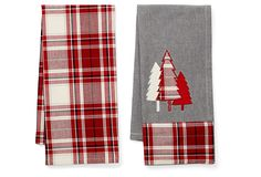 One Kings Lane - A Holiday Abroad - S/2 Asst Pralognan Bordeaux Towels