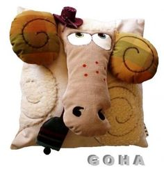OMG!  Love this goat pillow