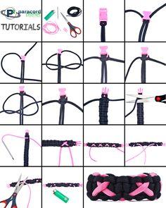 #BreastCancerAwareness #Paracord Bracelet Tutorial