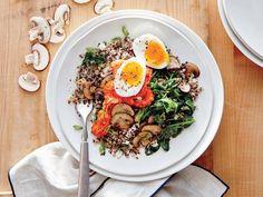 Kale and Mushroom Quinoa with Romesco image