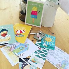Sharing from @rocketsandback who took this fab image of the contents of last month's #SherbetBox  #stationery #subscriptionbox #snailmail