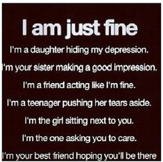 I am just fine