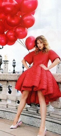 Balloon Dress/ American Millionairess / karen cox. Red Balloons Dior