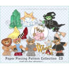 Wizard of Oz Bear Paper Piecing Pattern COLLECTION CD