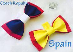 Bow ties for football chempionship fans CzechRepublic&Spain #FIFA2016 #Spain#CzechRepublic
