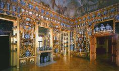 Porcelain Room | Schloss Charlottenburg Berlin, Germany | Whistler's Inspiration for the Peacock Room now at Freer Gallery (Smithsonian), Washington, DC