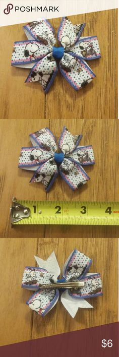 Snoopy bow Snoopy bow.  1 bow for $6. 2 bows for $10. 3 bows for $15.  These prices are firm.  ***cheaper on mercari*** Accessories