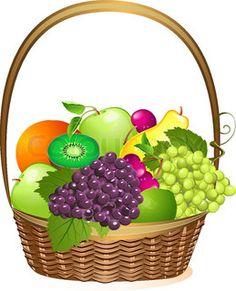 Fresh Vegetables Clip Art | Vector of 'fruits and vegetables vector frame'