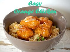 Violet's Buds: Easy Orange Chicken dinner recipe- I think I'll sauté some fresh tenders to make it a little healthier;)