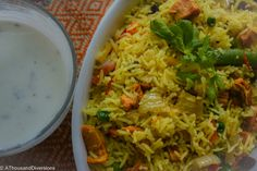 Soya chunks and vegetables fried rice