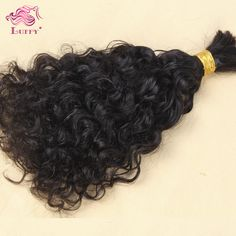 Queen human hair bulk virgin brazilian hair bulk braiding  AAAA Grade Curly hair style instock fast shipping