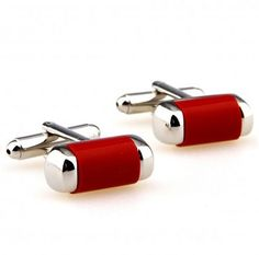 Red Stainless Steel Cufflinks AU$39.99 #Mens #Cufflinks