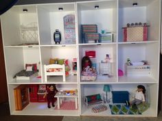 American Girl Storage, American Doll House, American Girl Doll Room, American Girl Crafts, American Girls, American Girl Dollhouse, Ag Doll House, Doll House Plans, Doll Houses