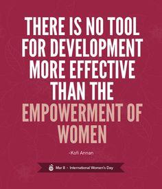 Empower women.