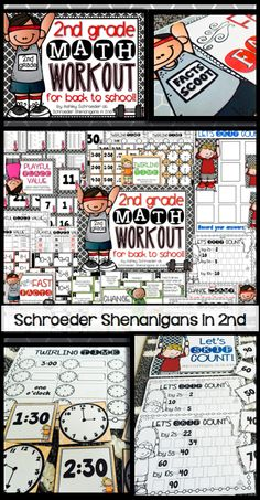 Freebies and a giveaway for back to school resources! including a freebie sample from my math back to school workout set