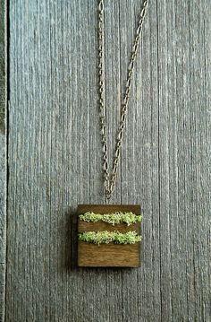 Wood & Moss necklace by etsy connoisseur, Mr. Lentz
