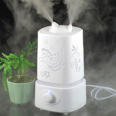 Ultrasone Luchtbevochtiger Aromatherapie Geurverspreider Lucht 110-240 V Licht Carve Ontwerp Mist Maker Essentiële Olie Diffuse Aroma Lamp