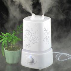 초음파 가습기 아로마 테라피 아로마 디퓨저 공기 110-240 볼트 빛 개척 디자인 미스트 메이커 에센셜 오일 확산 아로마 램프