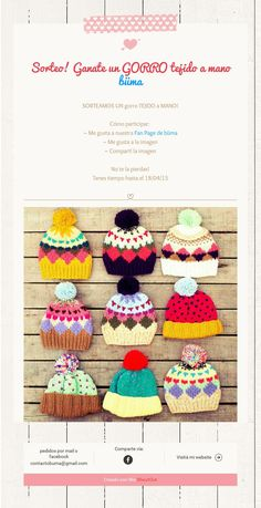 Baby Hat Knitting Patterns Free, Knitting For Kids, Knitting Projects, Baby Knitting, Crochet Patterns, Love Crochet, Knit Crochet, Crochet Hats, Kids Beanies