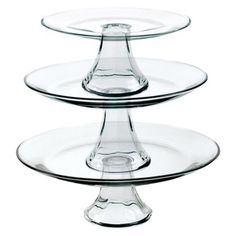 If only I had the room to store them, I'd be snapping these guys up.    Tiered Pedestal Serving Plates - Set of 3