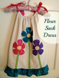 Flour Sack Towel Dress Tutorial... super cute and easy!
