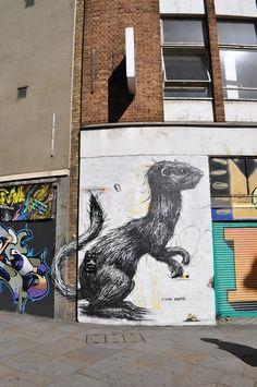 """Animal"" street art by ROA | FreeYork"