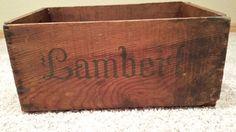 Lambert Wooden Box - Very unique vintage fruit box